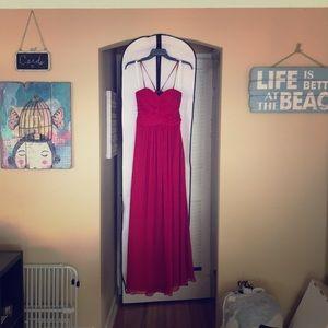 Azazie Parker Burgundy Bridesmaid Dress wpockets 4